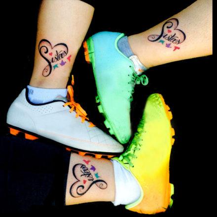 Tatuajes de amistad y amor de hermanas