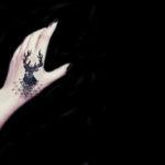 Incredible minimalist tattoo of zentangle art, geometry and animals